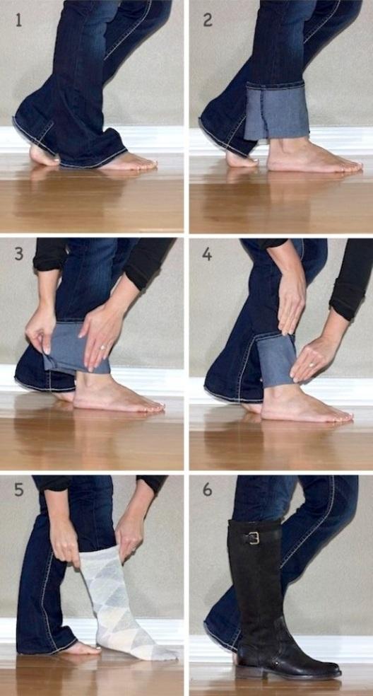 как сделать джинсы у голенища узкими