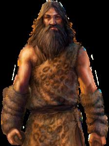 Пещерный человек в анималистическом стиле