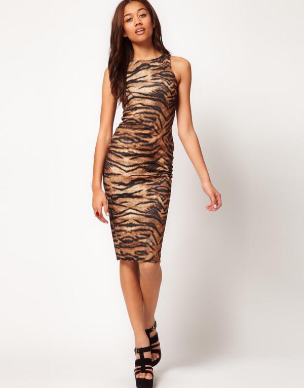 Тигровый принт в одежде